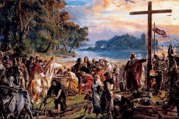 Chrzest Polski u podnóża pogańskiej góry