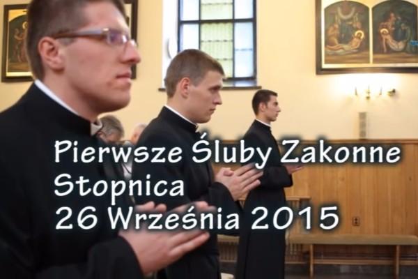 Pierwsza Profesja Zakonna – Rocznik 2015 (wideo)